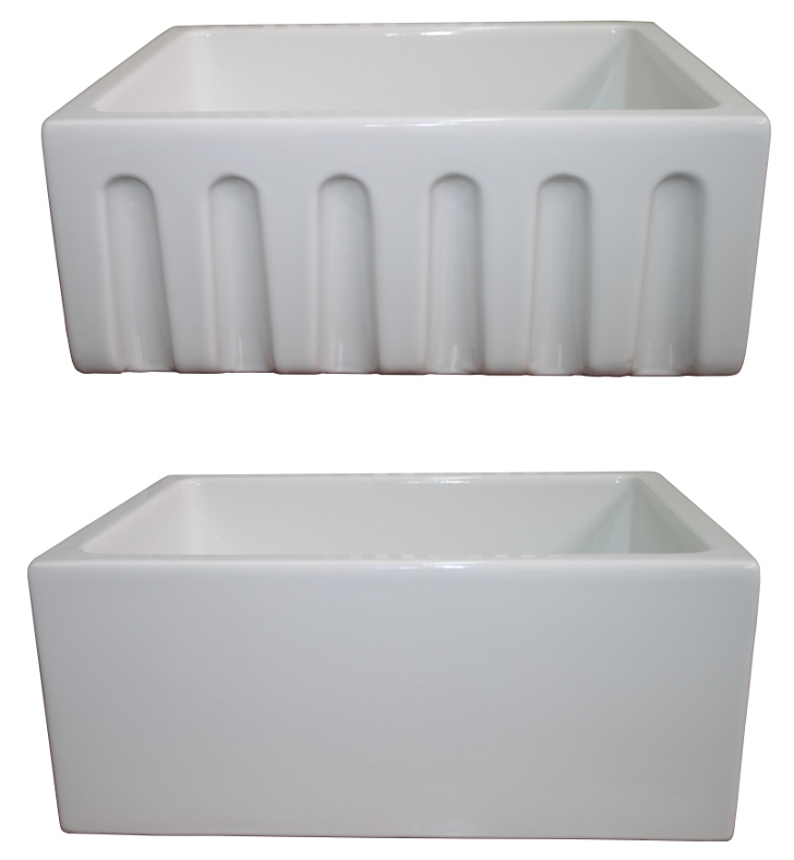 "LaToscana LAT-R2418W 23-5/8"" Reversible Fireclay Farmhouse Sink"